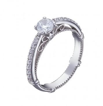 Серебряное кольцо с куб. цирконием 1001