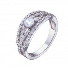 Серебряное кольцо с куб. цирконием 1002