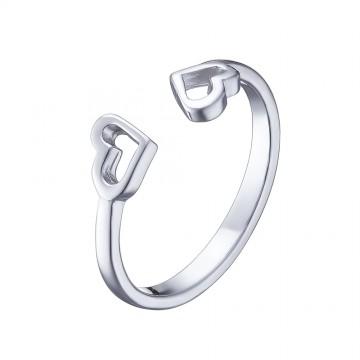 """Серебряное кольцо """"Сердце"""" 1004"""