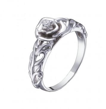 """Серебряное кольцо """"Роза"""" 1017"""