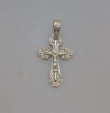 Серебряный крестик с Распятием Христа 32107