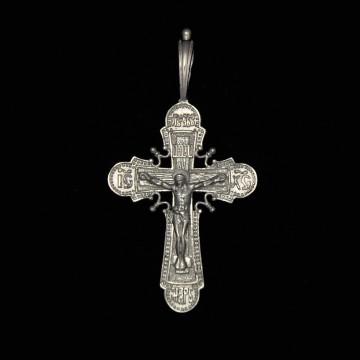 Серебряный крестик с Распятием Христа 32109