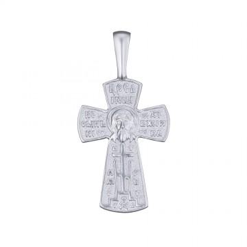 Серебряный крестик 32119