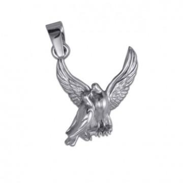 Срібний кулон Голуби 3306