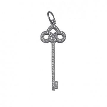 Серебряный кулон Ключ 3313