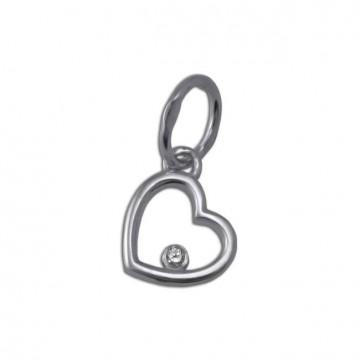 Срібний кулон Серце 3317