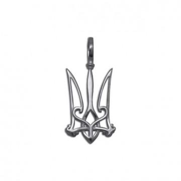 Срібний кулон Герб України 3325