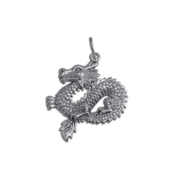 Срібний кулон Дракон 3332