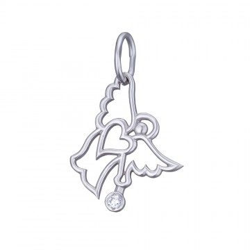 Срібний кулон Ангел 3344