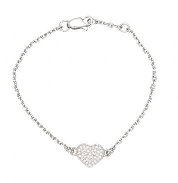 Серебряный браслет с Сердце 4307