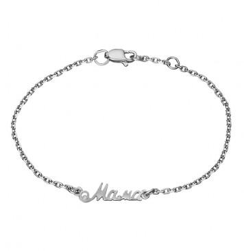 "Cеребряный браслет ""Мама"" 4310"
