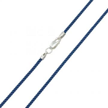 Крученый шелк МиланГолуб 2.0 мм с серебряной застежкой 6419
