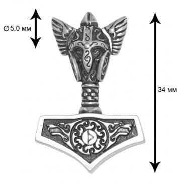 Серебряный кулон оберег Молот Тора 8012-4