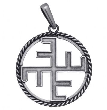 Серебряный подвес оберег Небесный Крест 8017-4