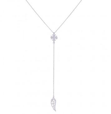 Серебряное колье Лилия, Крыло Ангела 9206