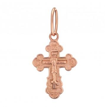 Золотой крестик с Распятием Христа z3217-K