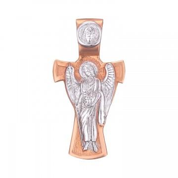 Золотой нательный крестик Ангел Хранитель z3231-K
