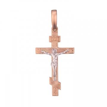 Золотой крестик с Распятием Христа z3233-K