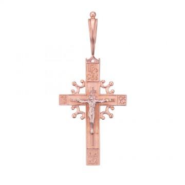 Золотой крестик с Распятием Христа z3235-K