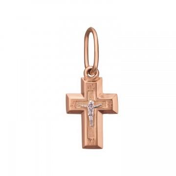 Золотой крестик с Распятием Христа z3279-K