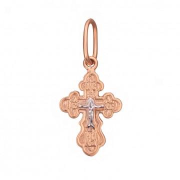 Золотой крестик с Распятием Христа z3282-K