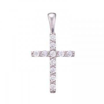 Золотой крестик с камнями z3286-B