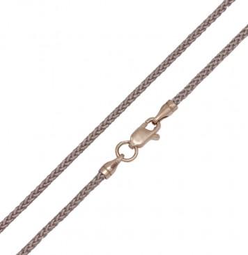 Плетеный шелк Бежевый 2.0 мм с золотой застежкой z6804